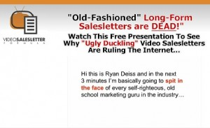 Ryan Deiss Ugly Duckling Video Sales Letter Learn From Internet