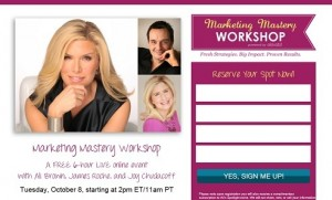 Ali Brown - Free Marketing Mastery Workshop