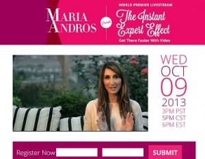 Maria Andros - Free Training The Instant Expert Effect