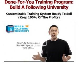 Justin Popovic - Build a Following University PLR