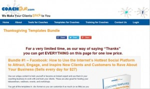 Coach Glue - Thanksgiving Templates Bundle
