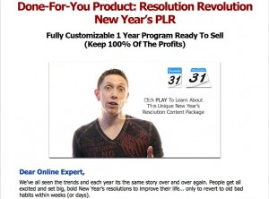 Justin Popovic - New Years Resolutions PLR