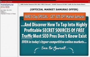 Market Samurai - Half Price