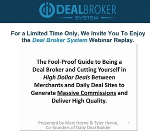 Marc Horne - Deal Broker System