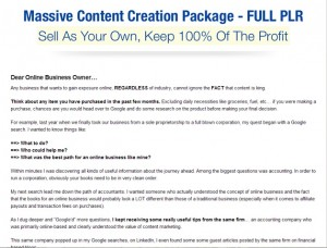 Content Creation PLR Pack