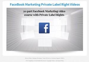 Facebook Marketing & Traffic PLR Videos