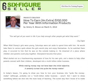 Jimmy D Brown - Six Figure Seller