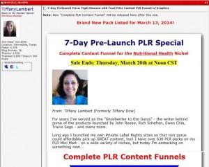Tiffany Lambert - PLR Funnel Foods Fight Disease