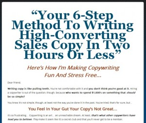 sales letter template learn from internet marketers