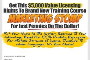 Marketing Stomp PLR