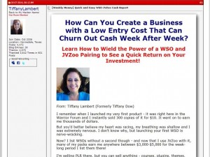 Tiffany Lambert - How to Launch a WSO on JVZoo