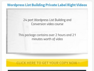 Wordpress List Building PLR Videos