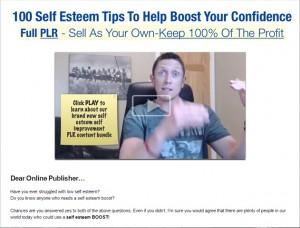 100 Self Esteem Tips PLR