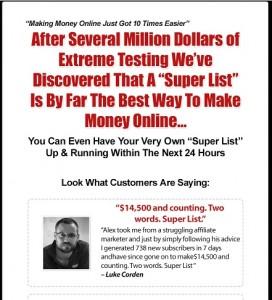 Alex Jeffreys - Super List Method