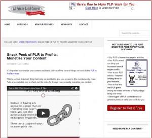 PLR to Profits - Monetize Your Content