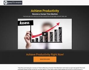 Paul Evans - Achieve Productivity