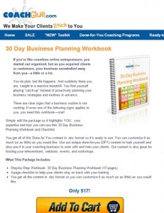 30 Day Business Planning Workbook