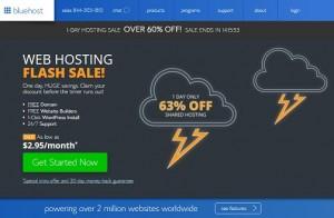 Bluehost Flash Sale 8-17